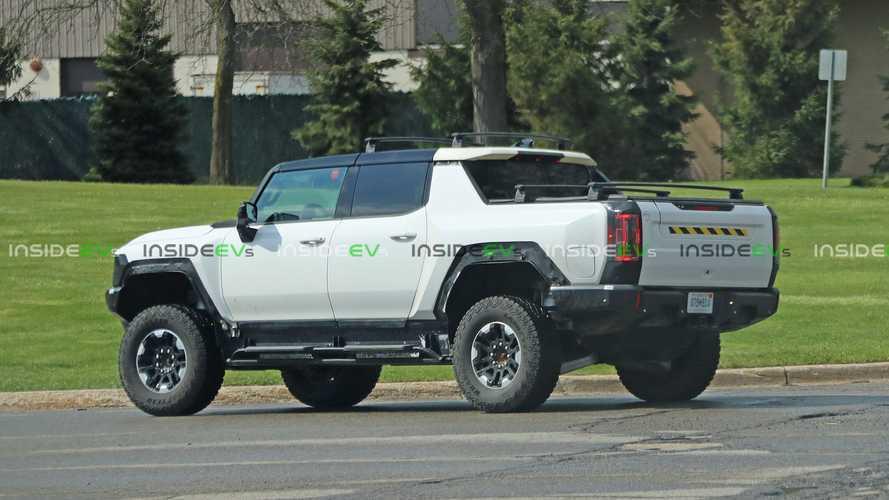 GMC Hummer EV spied again