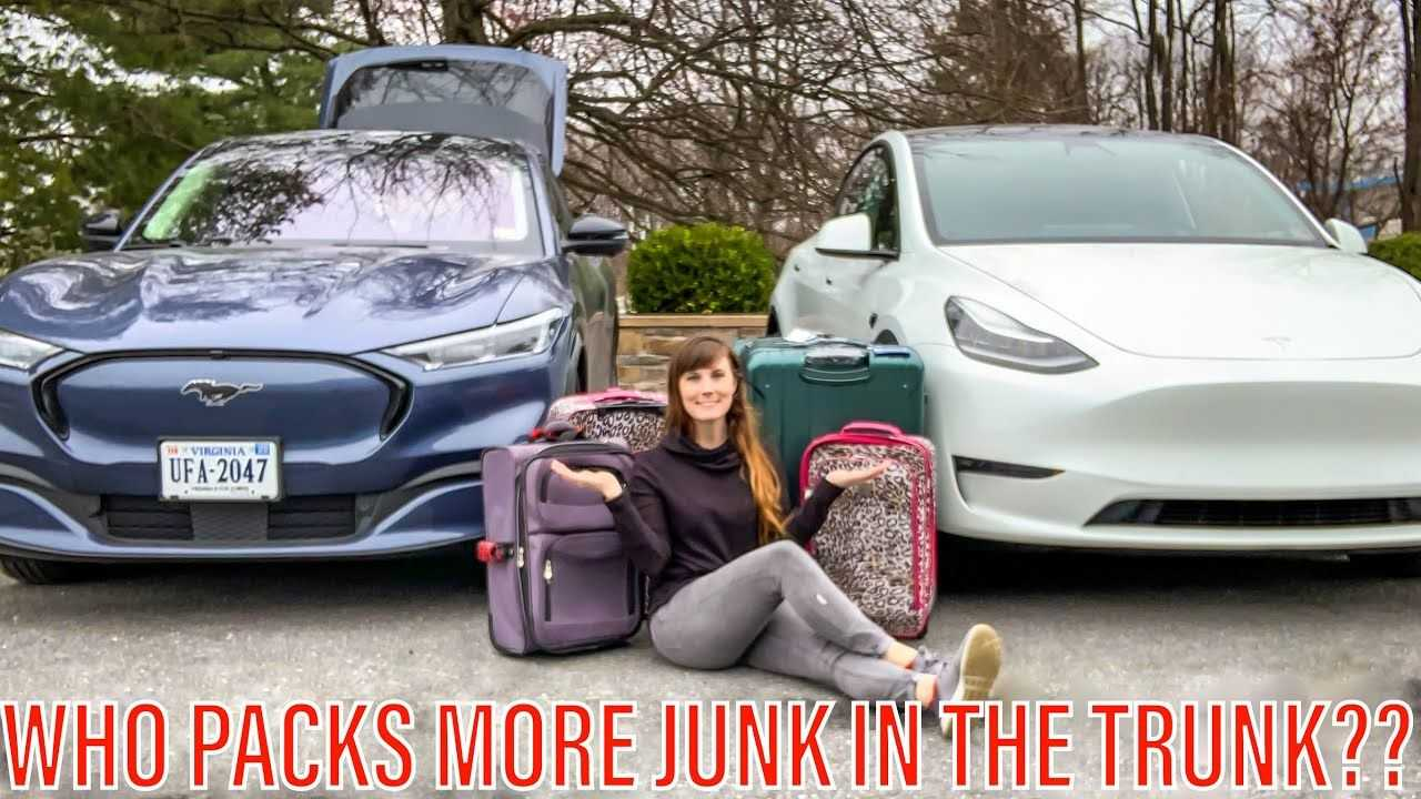 tesla model y vs ford mustang mach-e luggage space