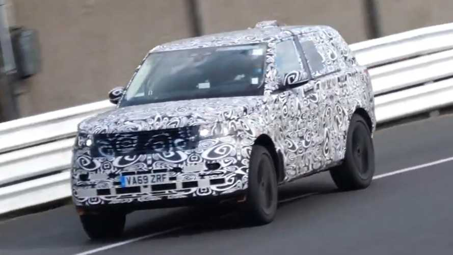 New Range Rover spied during tyre-screeching test at Nurburgring