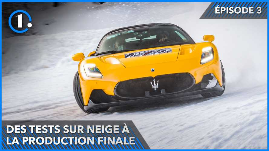 MC20 - Des tests sur neige à Livigno à la production à Modène