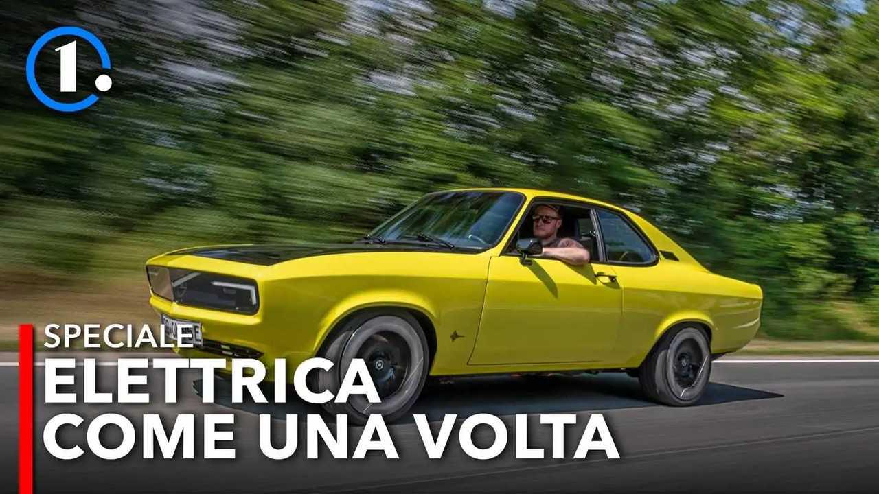 Opel Manta elettrica prova