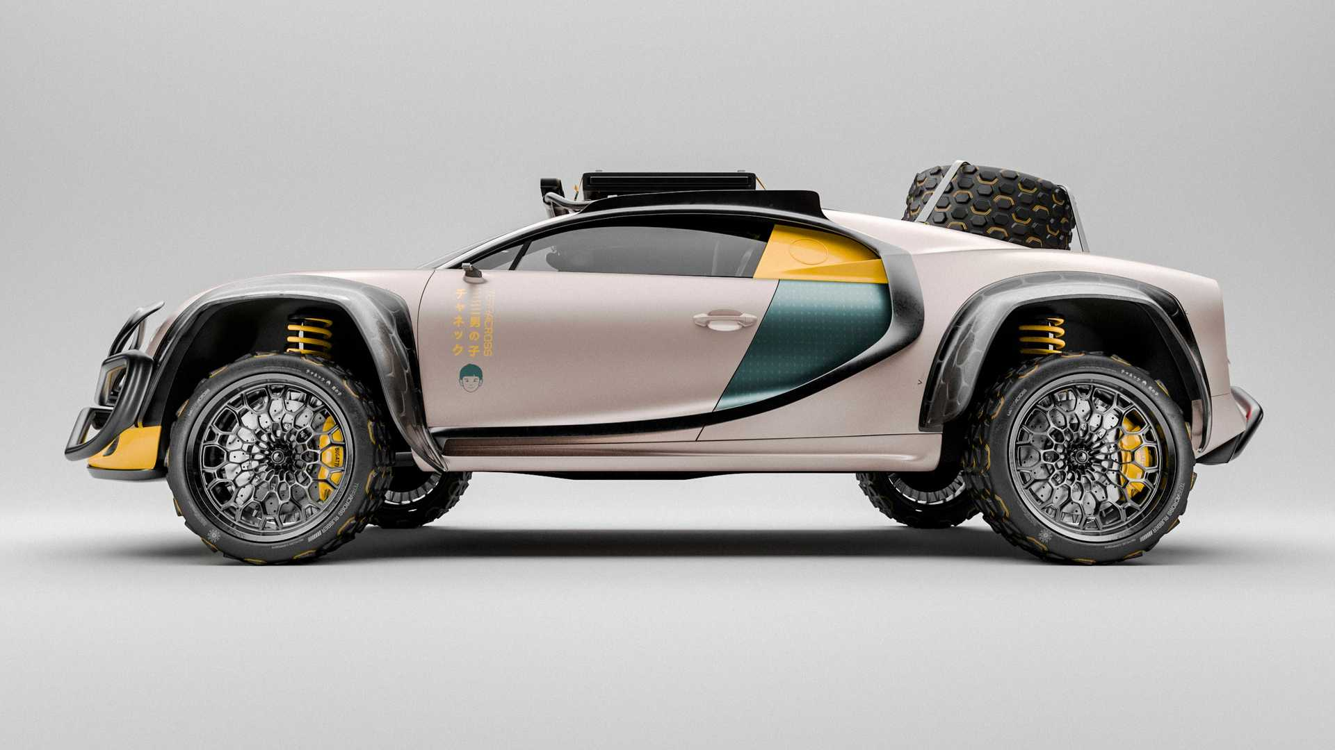 Bugatti Chiron Terracross визуализирован как гипер-внедорожник