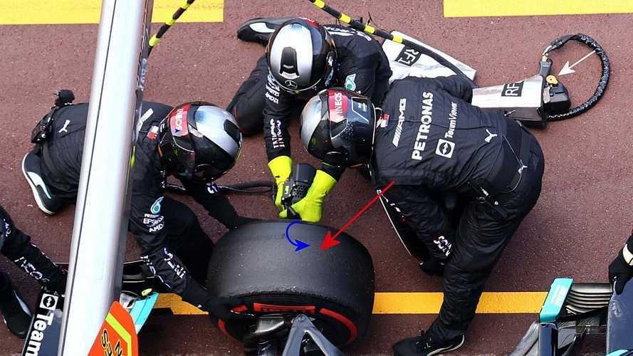 Vídeo: Mercedes logra sacar la tuerca del coche de Bottas