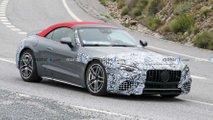 Mercedes-AMG SL (2022) mit weniger Tarnung erwischt