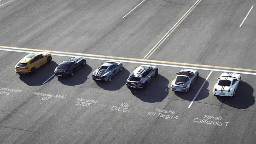 KIA EV6 GT, süper otomobillerle drag yarışında!