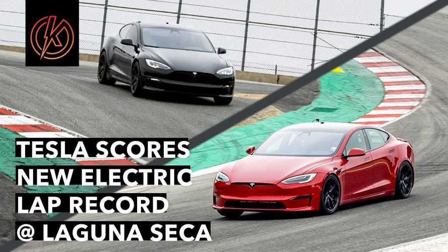 Tesla Model S: Unofficial Laguna Seca Lap Record With Video