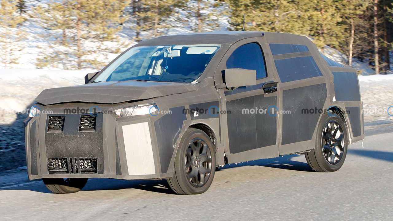 High-riding sedan prototype could be a Fiat.