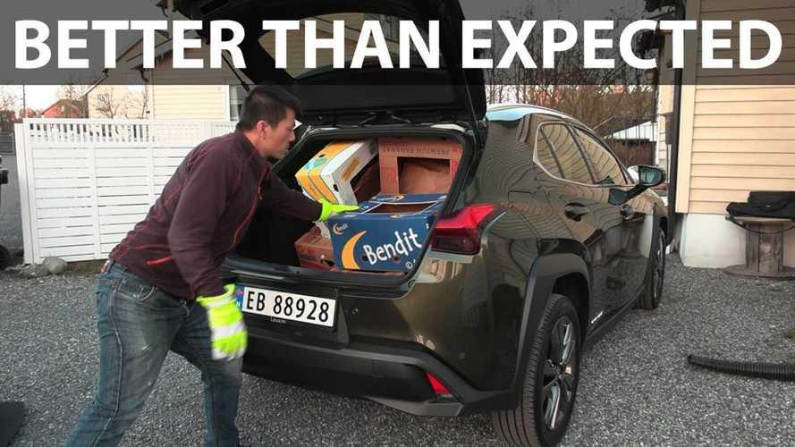 Lexus UX 300e Scores 8 And 18 In Bjorn's Banana Box Test