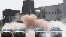 Volkswagen Amarok takes down a chimney - 5.5.2011