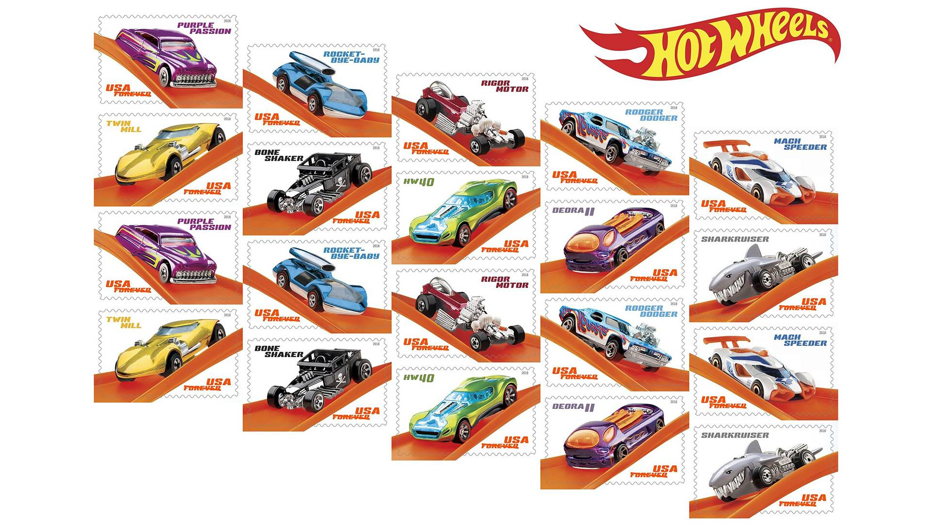 Hot Wheels Commemorative Stamps Will Spruce Up Your Snail Mail