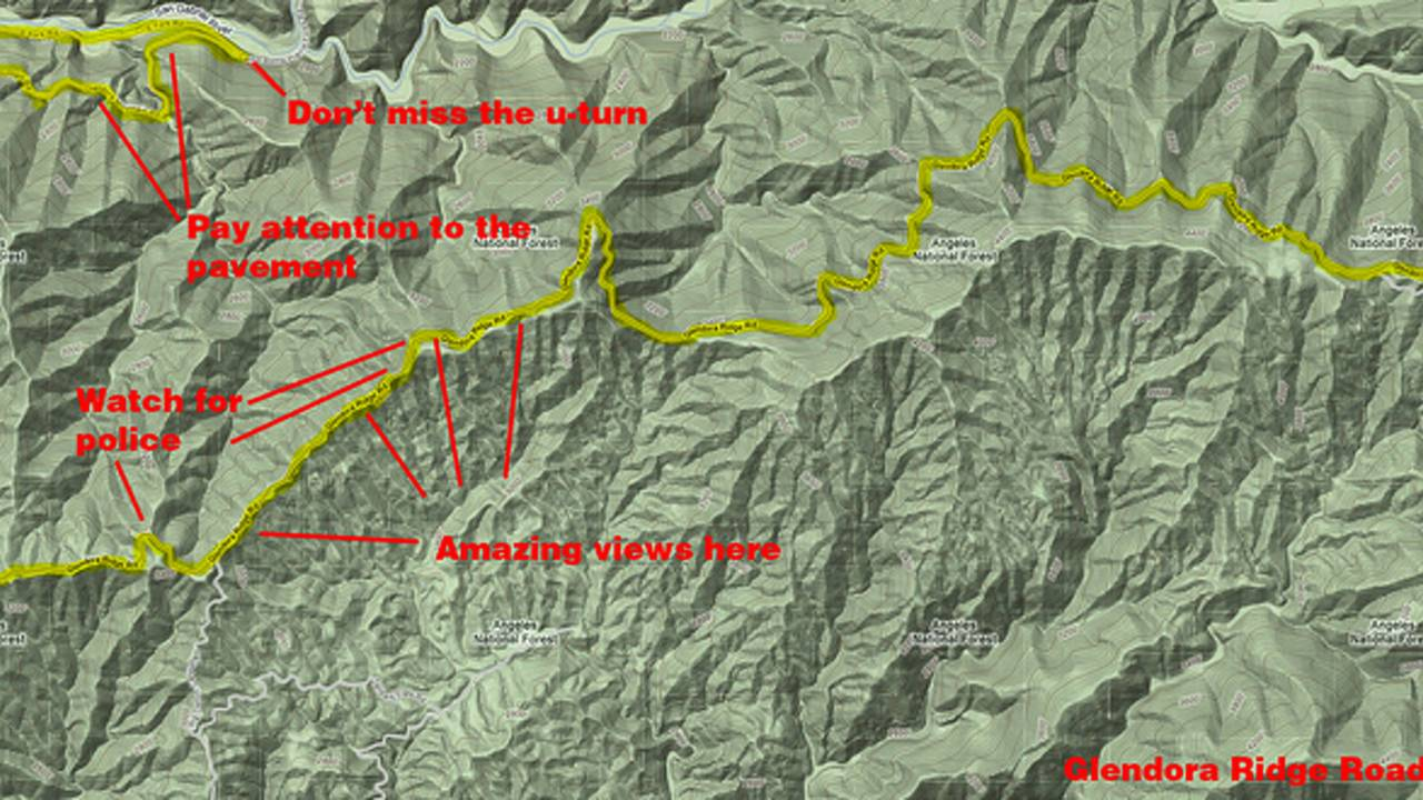 Ride: Highway 39, Glendora Mountain Road and Glendora Ridge Road