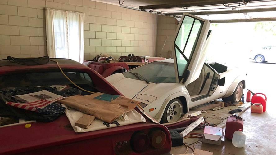 El Lamborghini Countach abandonado de los abuelos