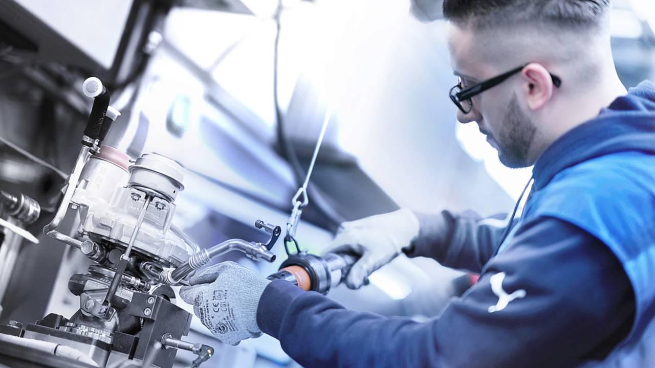 Fabricación del motor del BMW M850i