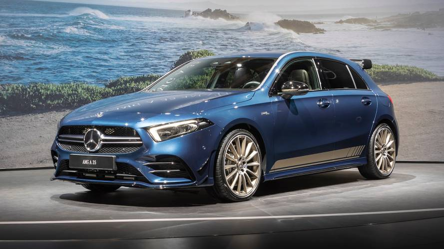 Hot Mercedes-AMG A35 hatchback debuts in Paris