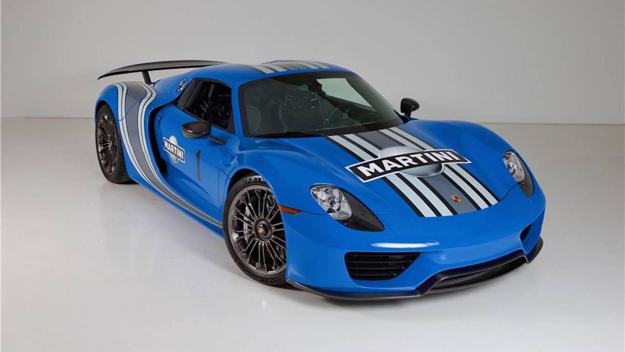 Porsche 918 Voodoo Blue Açık Arttırma