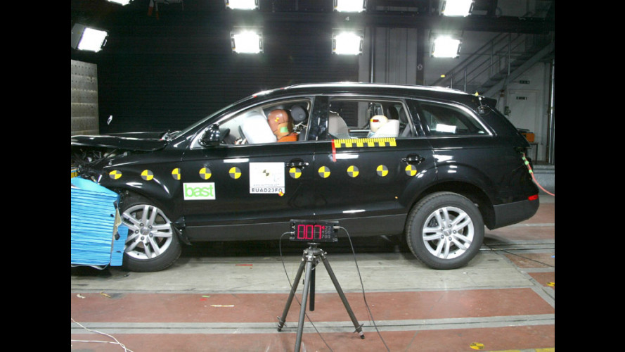 "Crash Test: ""solo"" 4 stelle per l'Audi Q7"