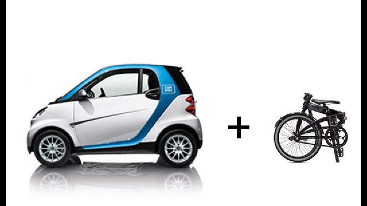 "[Copertina] - car2go ""consiglia"" l'uso di bici pieghevoli Tern"