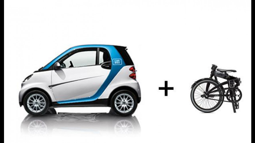 """car2go """"consiglia"""" l'uso di bici pieghevoli Tern"""