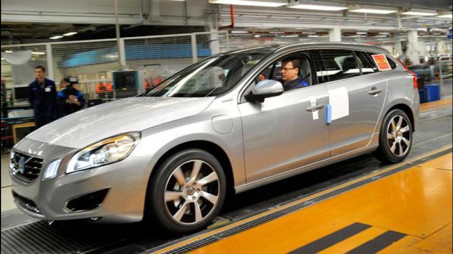 Volvo incrementa la produzione della V60 Plug-in Hybrid