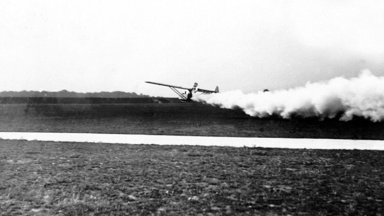 1929 Fritz von Opel flies world's first jet