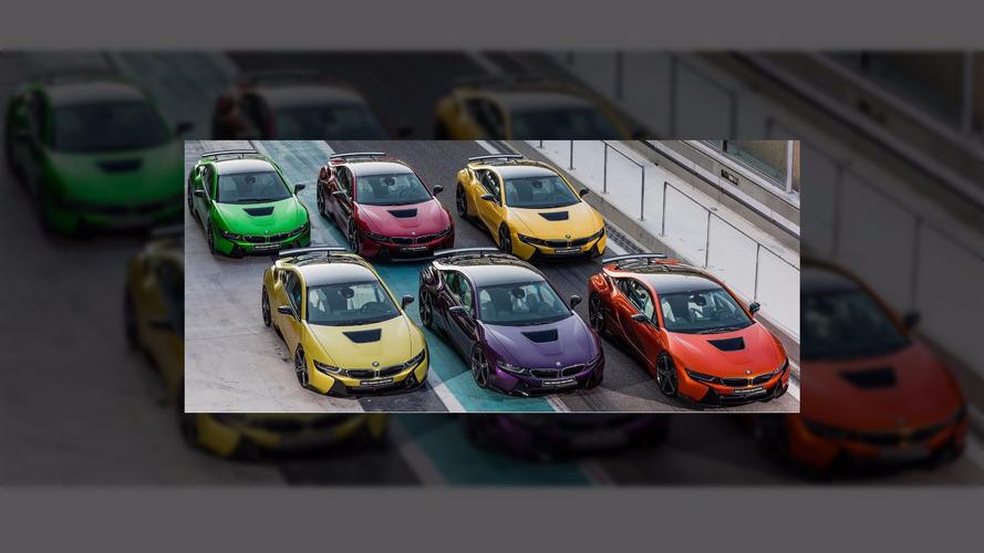 Des BMW i8 de toutes les couleurs à Abu Dhabi