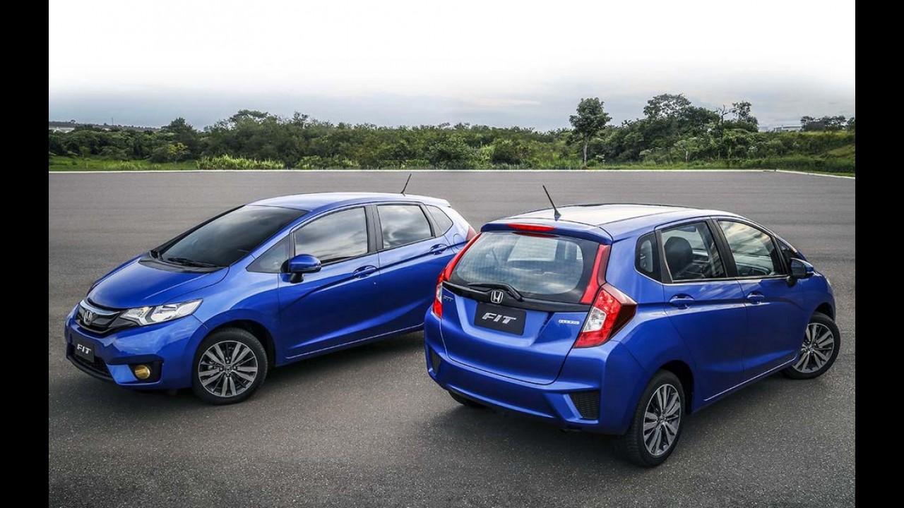 Hatches compactos: enquanto Fiesta e 208 despencam, Fit assume a liderança