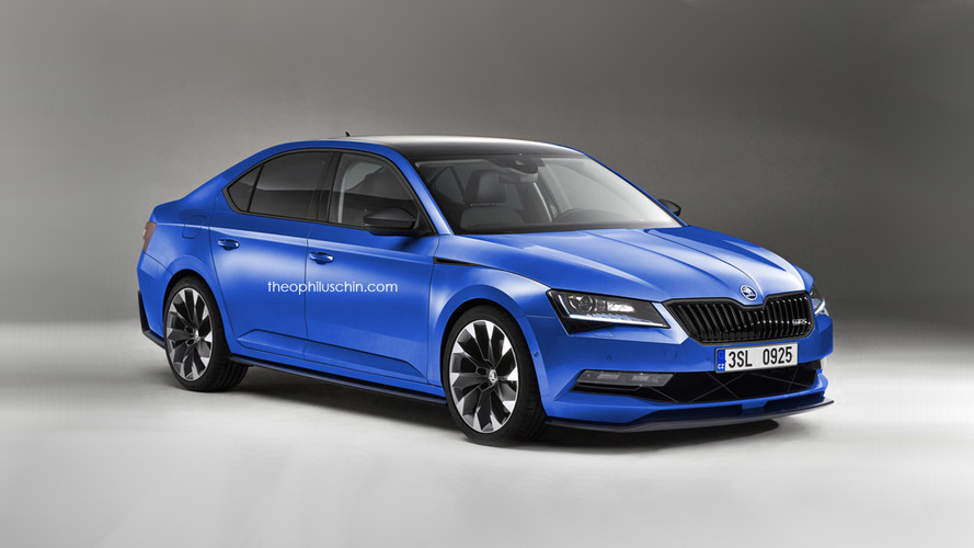 Skoda Superb RS renders