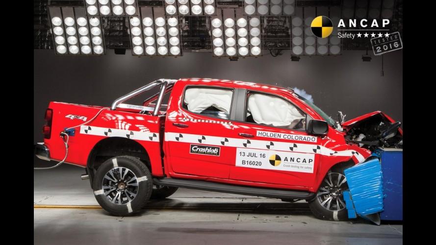 Irmã da Chevrolet S10, picape Colorado 2017 ganha cinco estrelas em segurança