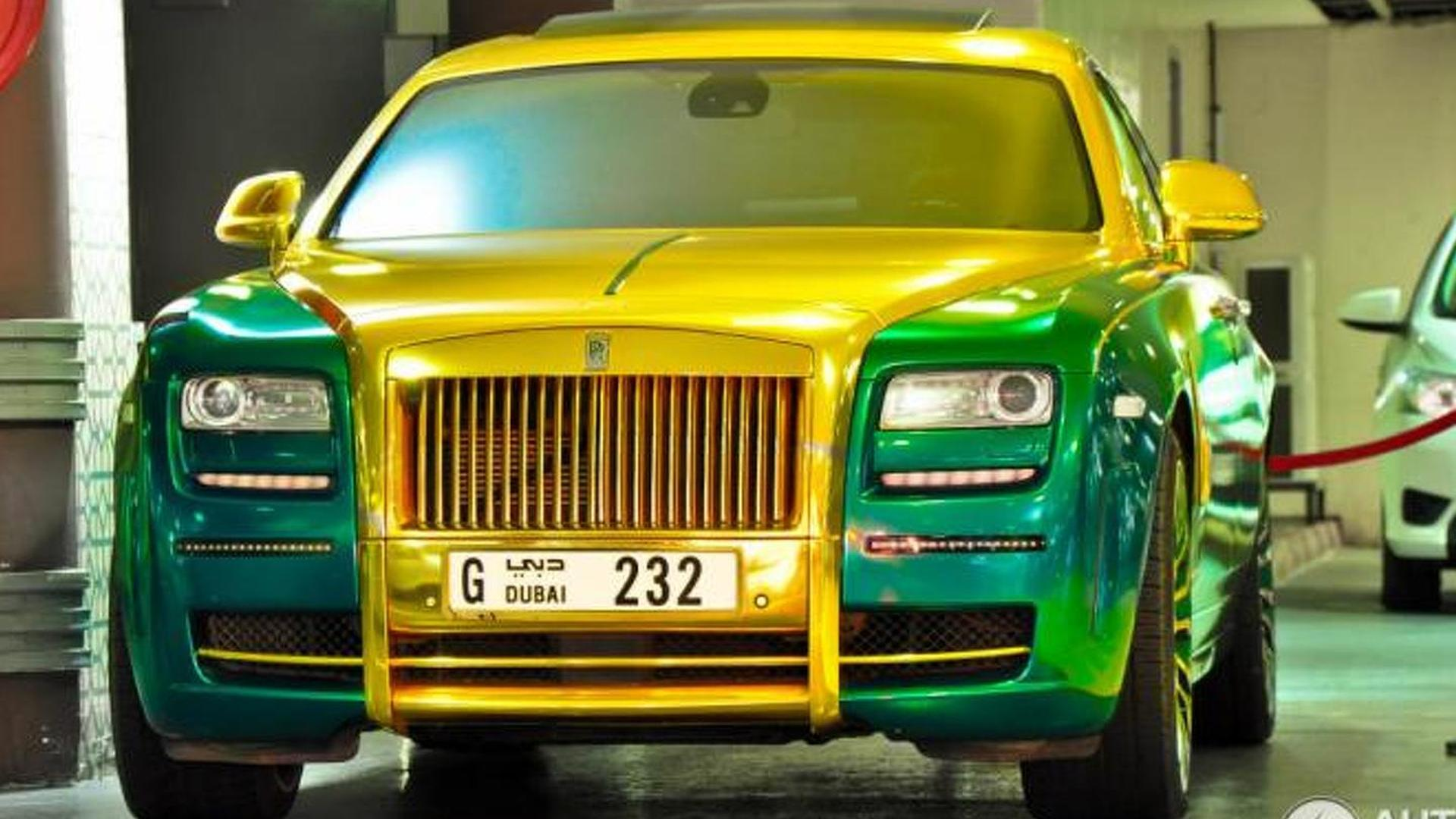 Mansory S Green Gold Rolls Royce Ghost Is Hard To Look At