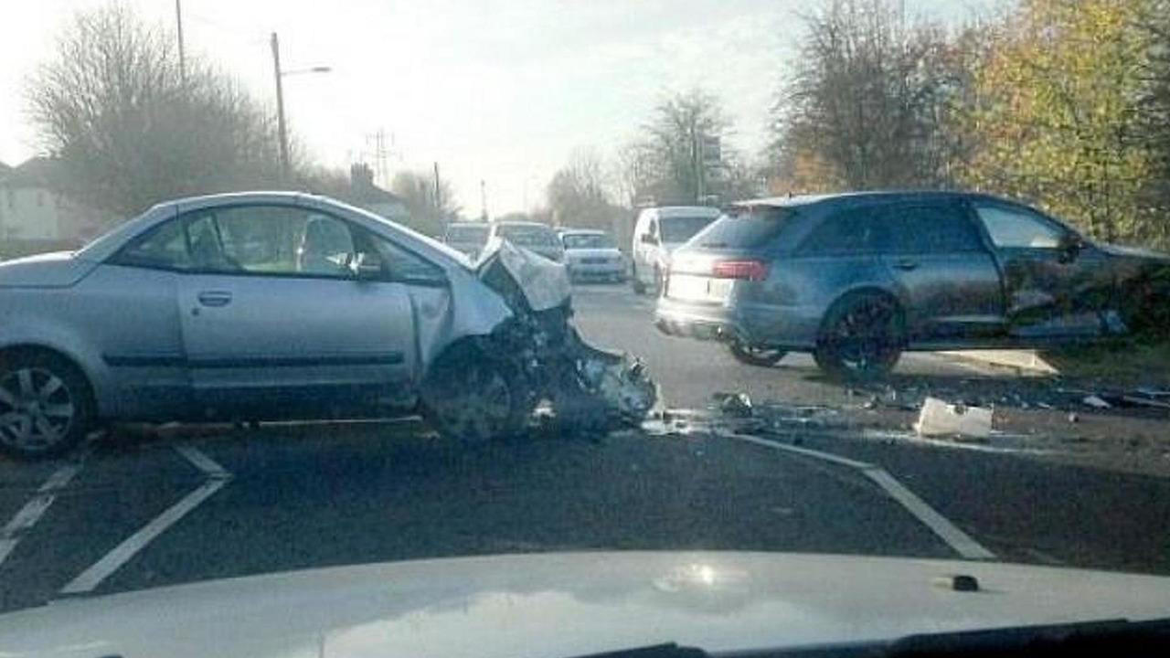 Mitsubishi Colt CZC and David Beckhams Audi RS6 Avant crash