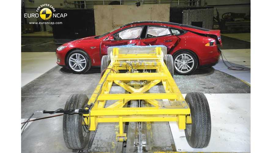 Tesla Model S Achieves 5-Star Euro NCAP Safety Rating (Images + Graphics + Video)
