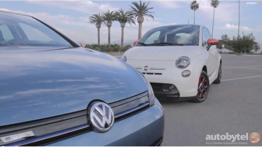 Which Is Better? The VW e-Golf or the Fiat 500e - Video