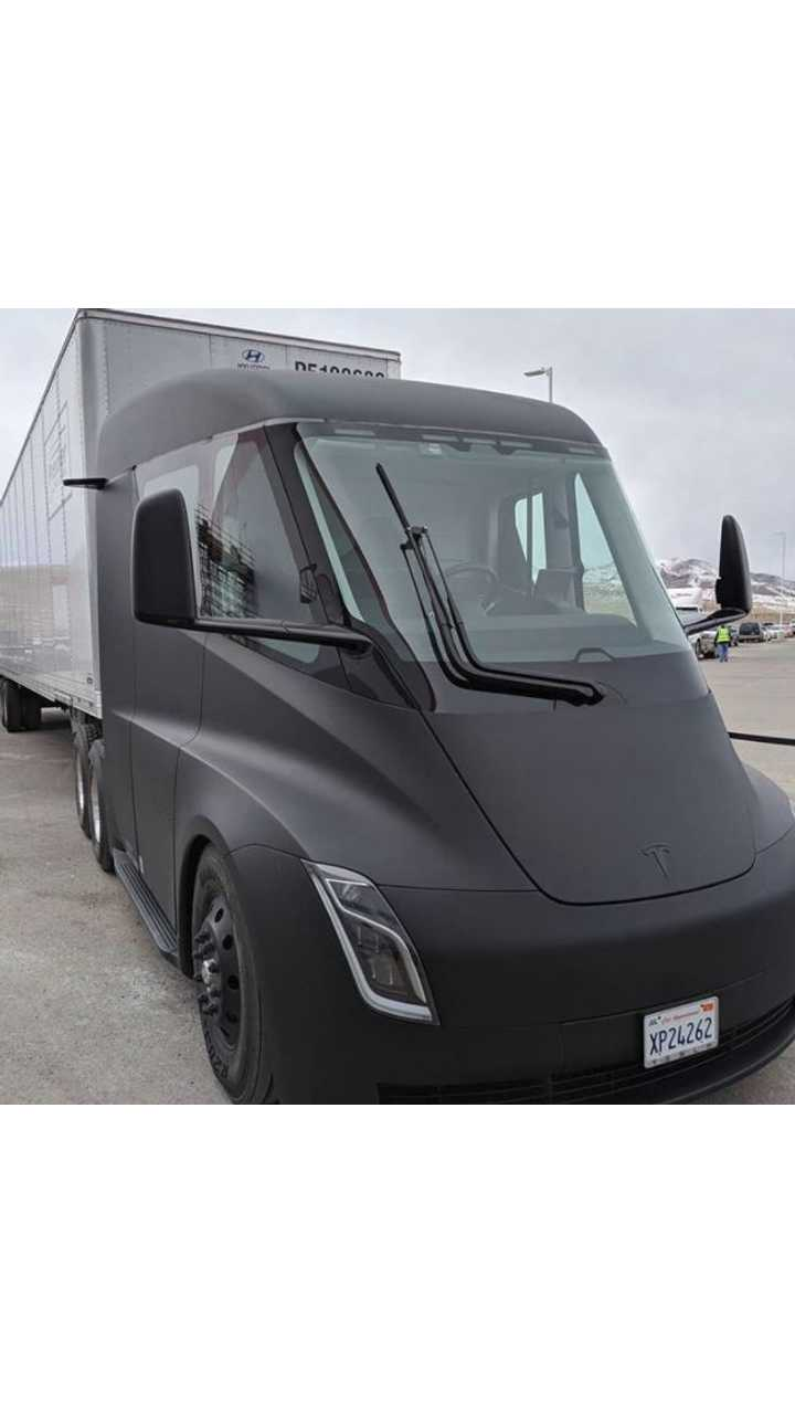 Check Out New Tesla Semi Images With Trailer