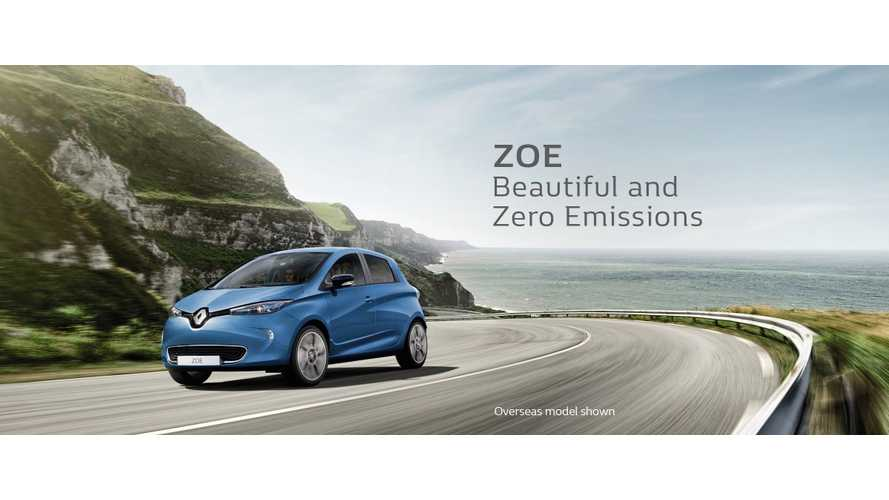Renault ZOE Now Available In Australia