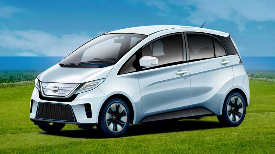 Re-Imagined: Mitsubishi i-MiEV Rendered As a Tiny Nissan EV