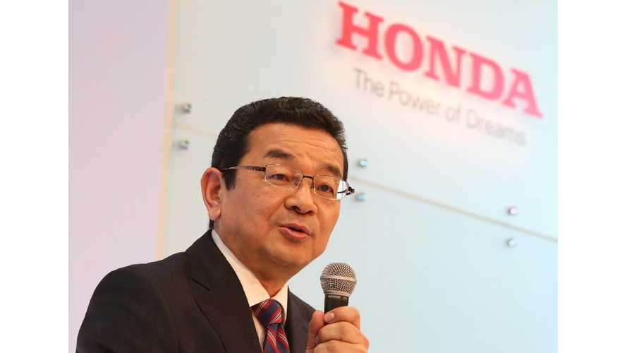 New Honda CEO: Electricity Will Be A Core Product For The Next Generation