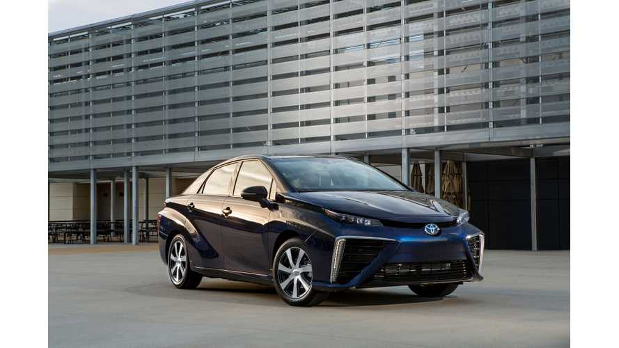 Toyota: Mirai Fuel Cell Water Has Less Impurities Than Milk