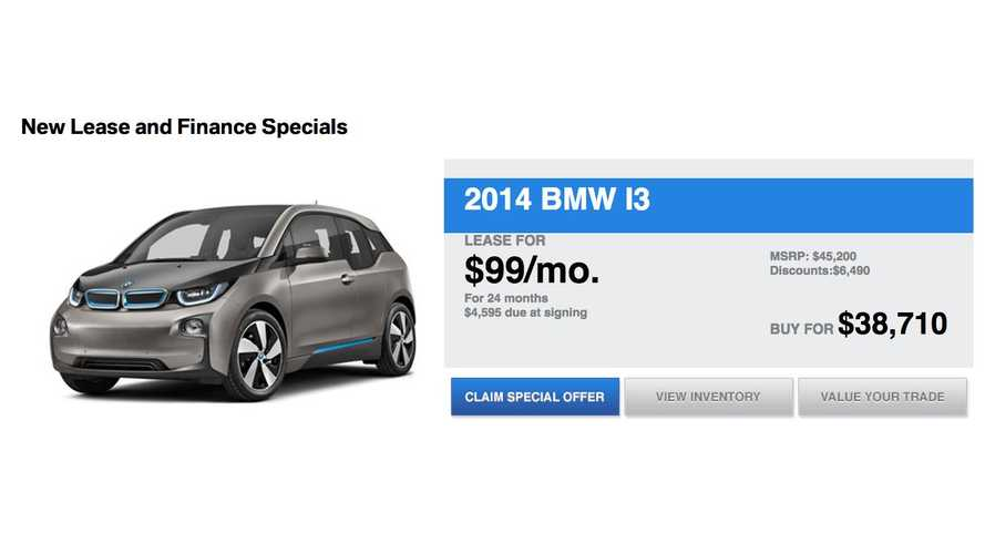BMW i3 Lease Deal: $99 Per Month