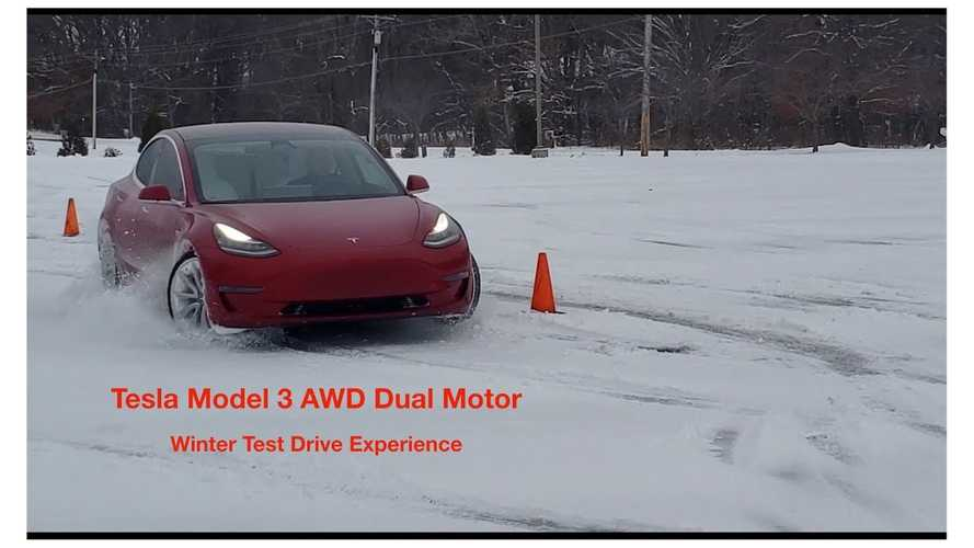 Video: Tesla Model 3 AWD Winter Driving Experience