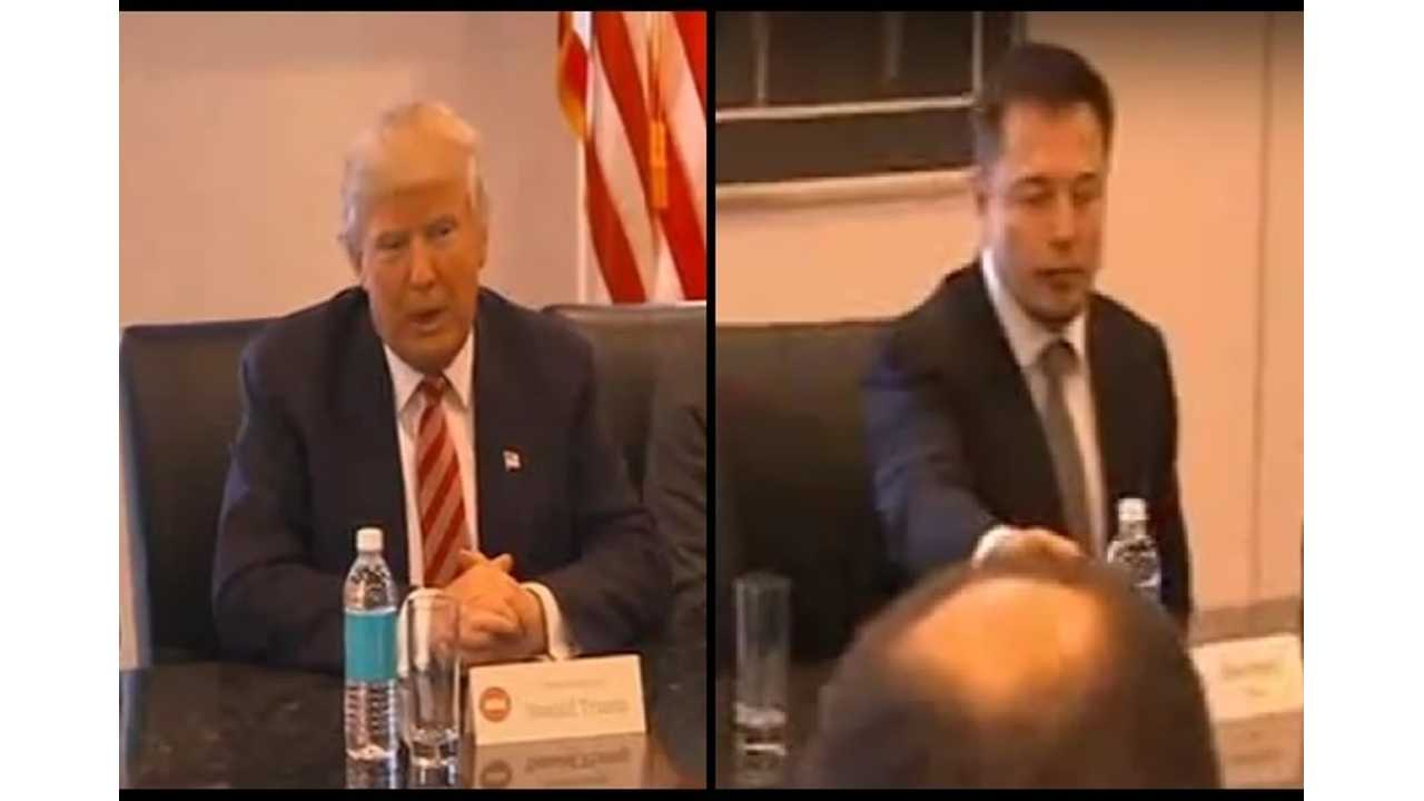 President Donald Trump and Tesla CEO Elon Musk at one of a few recent meetings