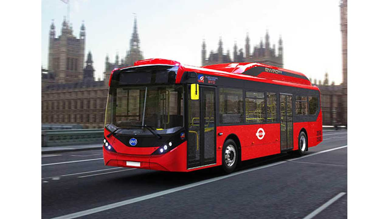 Over 2 Months, BYD Wins Almost 100 Electric Bus Orders In London