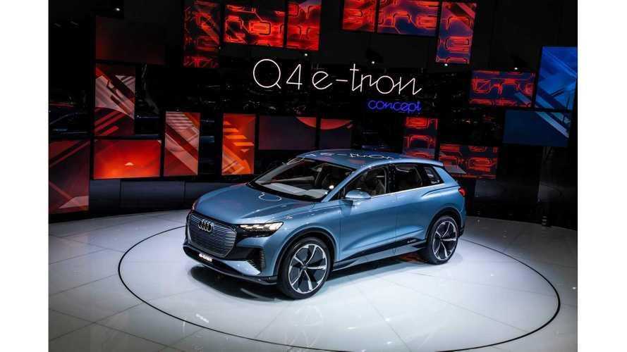 Audi Q4 E-Tron Electric CUV Sparkles In Geneva (Photos/Videos)