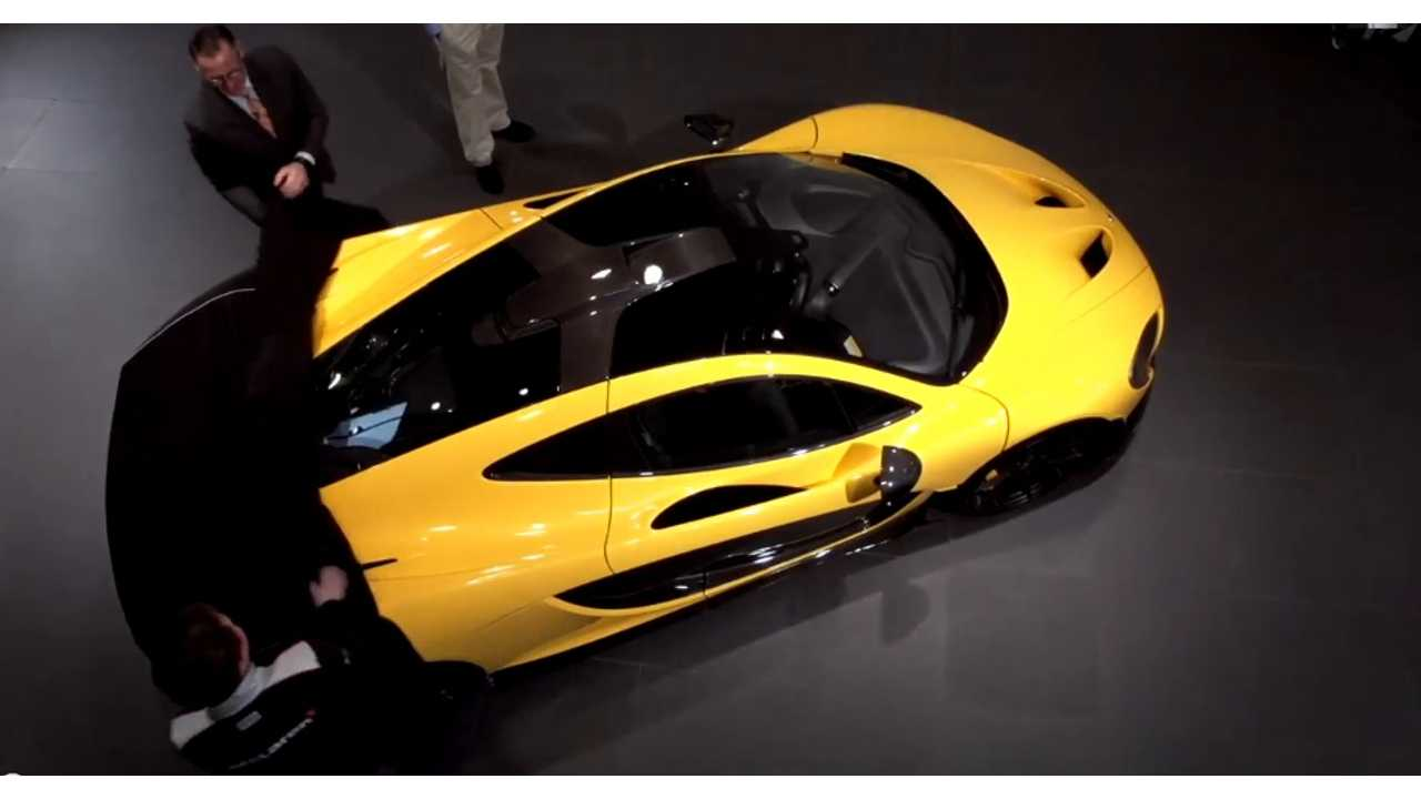 Taking The Wraps Of First Mclaren P1 In Us
