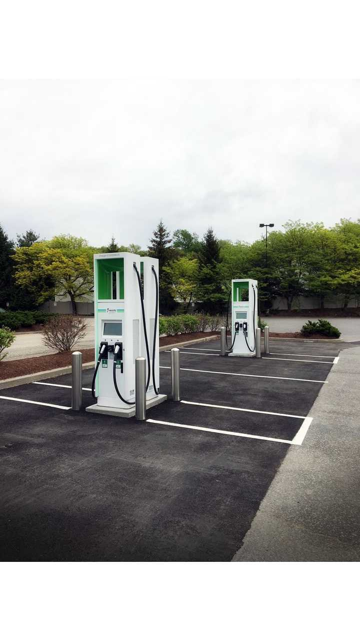 ABB fast chargers at Electrify America station