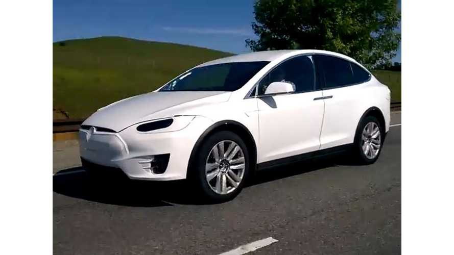 Tesla Model X Spotted On Public Road In Palo Alto - Video