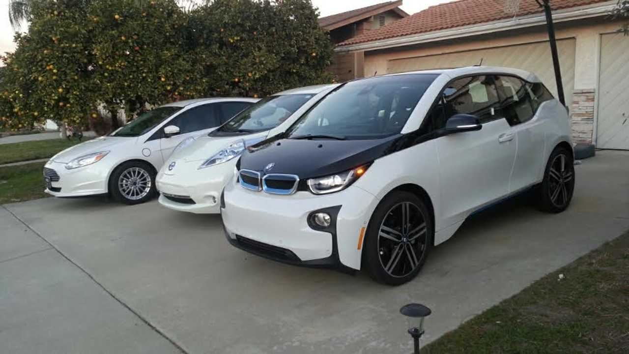 EV Ride Review: No Gas Vehicles In This Family - LEAF, Focus EV, i3