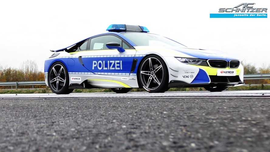 AC Schnitzer BMW i8 Police Car Is Plugged In & Hot