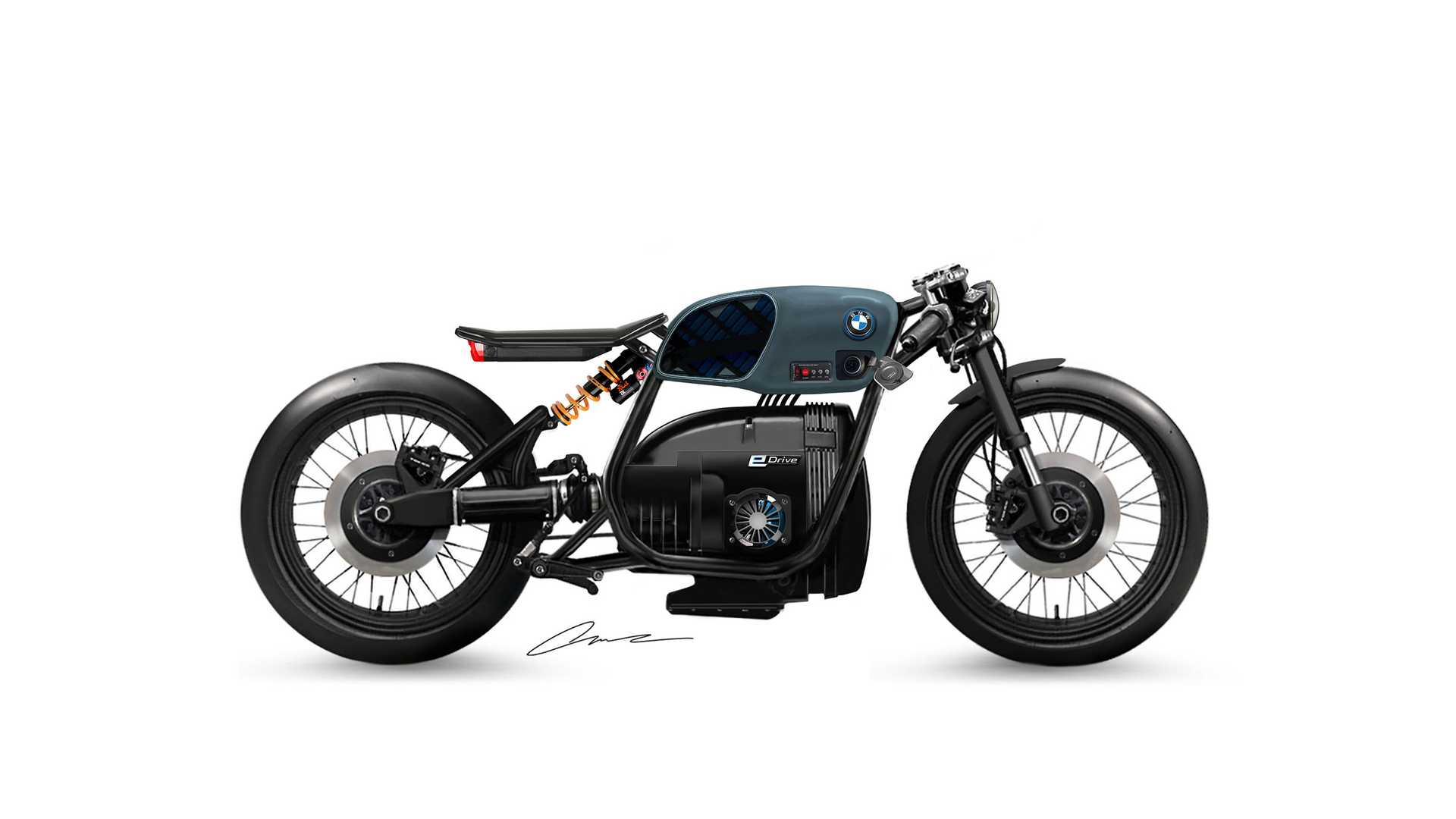 Check Out This Custom Electric BMW Motorcycle