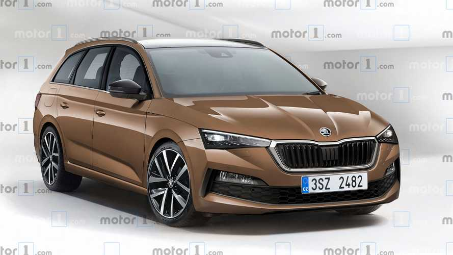 2020 Skoda Octavia rendered with sharp estate body