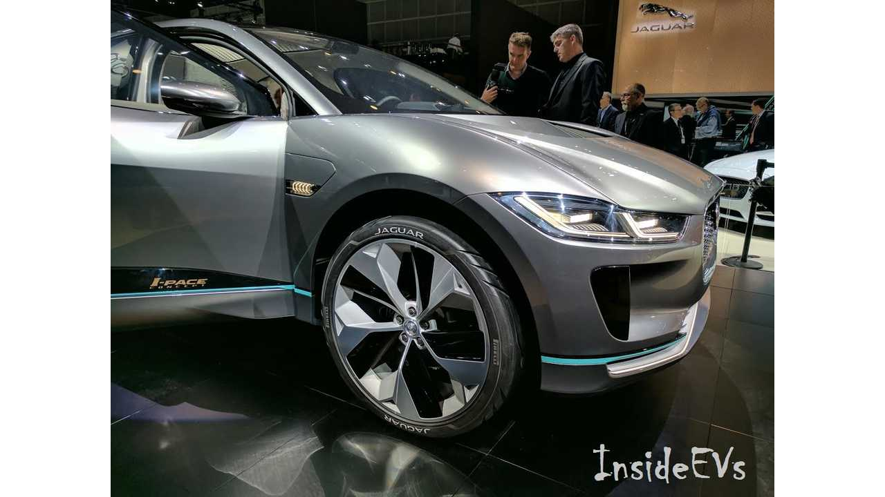While debuting the company's first all-electric EV from the LA Auto Show, Jaguar took the time to throw a little cold water on hydrogen fuel cell technology (InsideEVs/Tom Moloughney)